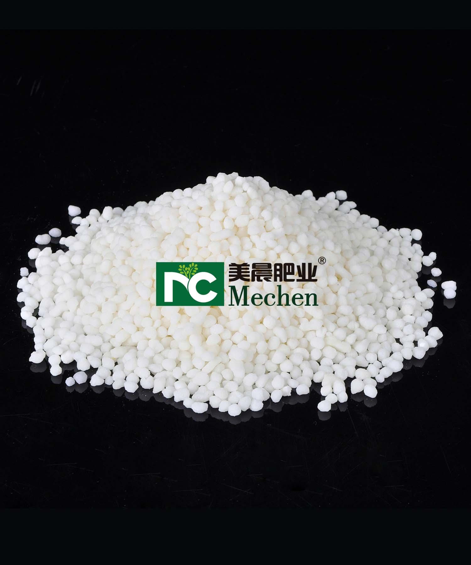 White magnesium sulfate particles