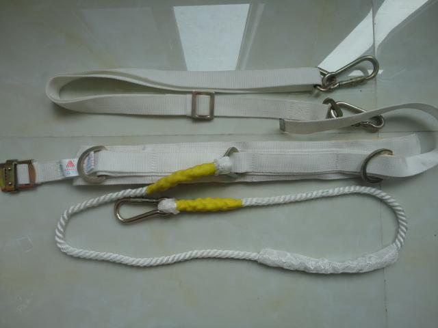 单腰安全带白色单绳