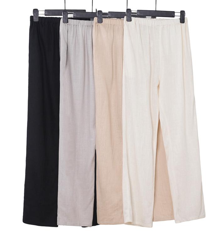 棉麻唐装裤子