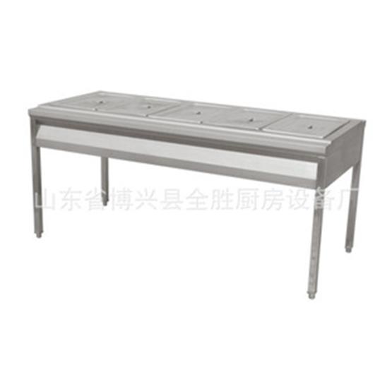 供应不锈钢简易五格保温售饭台保温展示台售菜台