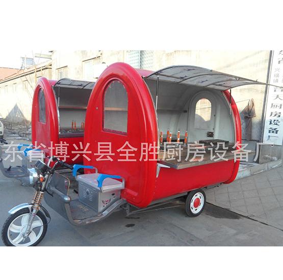 厂家供应车多功能电动小吃车电动三轮餐车早餐车移动餐车