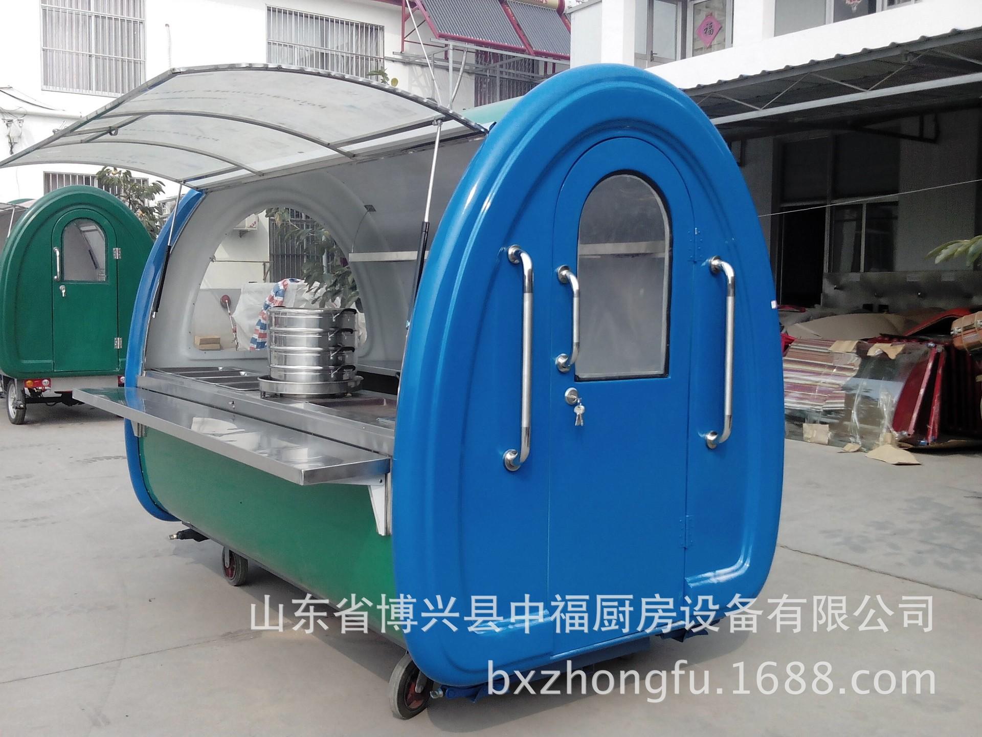 电动是三轮美食车多功能美食房车环保节能实用油炸铁板烧
