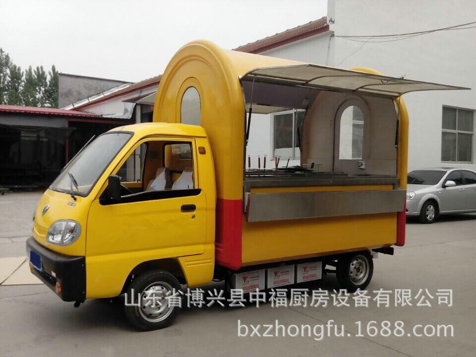 新款式电动四轮早餐房车美食车小吃房车流动营业厅