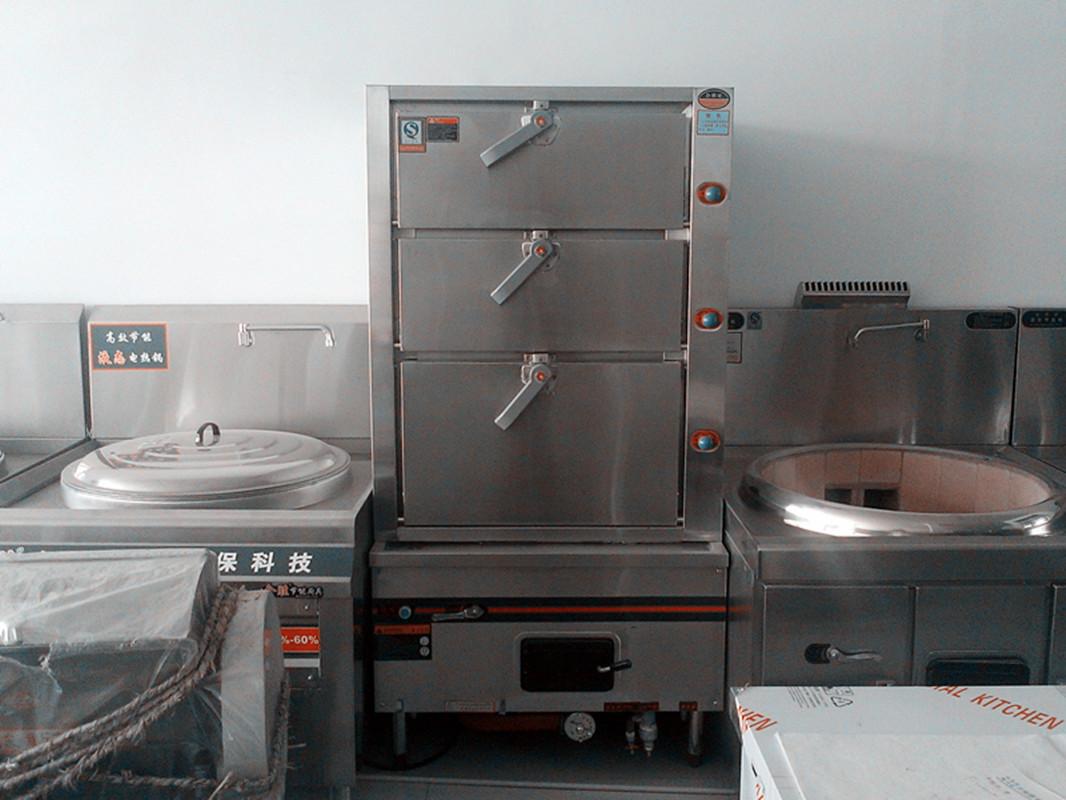 节能海鲜蒸柜油气两用三门蒸柜蒸饭柜蒸房