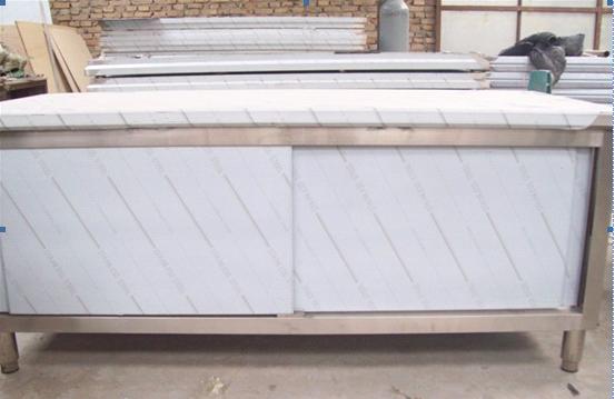 拉门工作台打荷台不锈钢操作台饭店厨房储物柜奶茶店设备