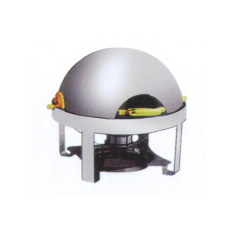 全翻盖全钢球形自助餐炉