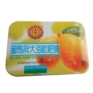 蜜炼胖大海枇杷糖/铁盒装50g(一盒2.5g*20粒)