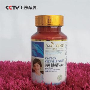 铁锌钙咀嚼片(一瓶1200mg*100片)