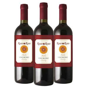 红与红卡迪尼半干红葡萄酒/意大利原装进口/售价为单瓶 6瓶一箱