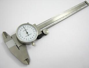 生产供应0-150mm高品质表卡不锈钢带表游标卡尺带表卡尺
