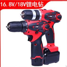 铁拳12V16.8V18V正反转双速耐用锂电充电式手电钻起子机充电电钻