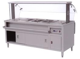 带罩保温售饭台  调理设备 商用厨具